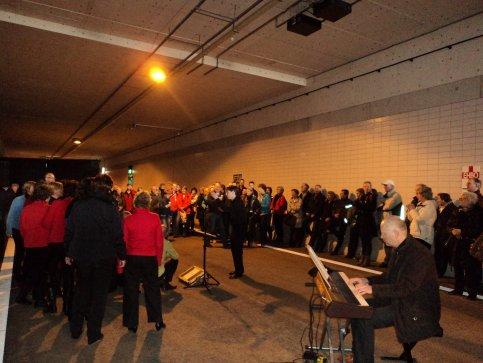Sonority zingt  tijdens open dag Waterwolftunnel