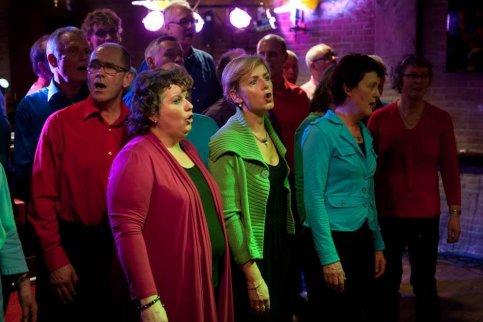 Popkoor Sonority op festival Hengelo